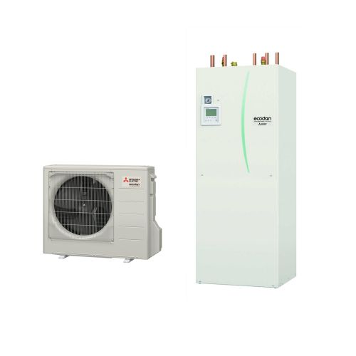 Mitsubishi Electric Ecodan QUHZ-W40VA / EHPT20Q-VM2EA Air Source Heat Pump With Thermal Store 4Kw A+